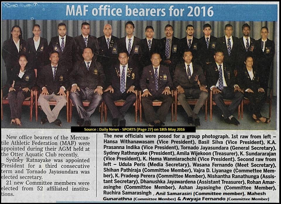 MAF Comittee 2016